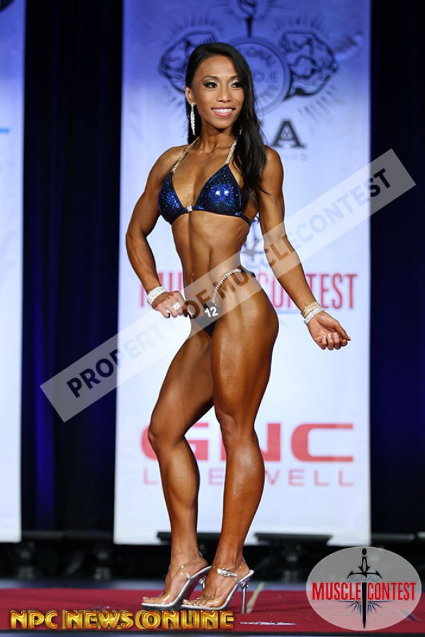 CHRISTINE ANCHETA bikini second 2016 INPC Western All Forces Championships