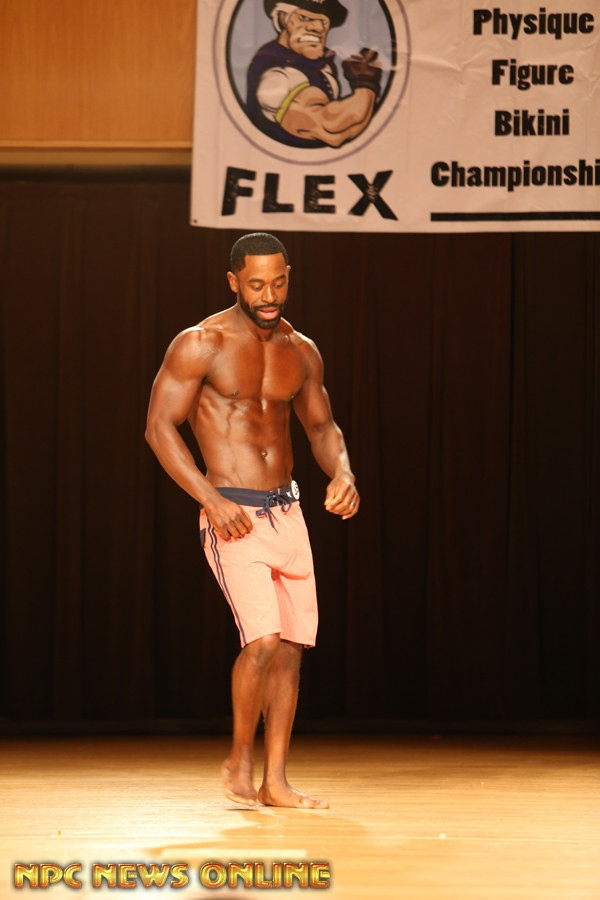 FREDDIE AUSTIN men's physique Class A  2nd 2015 npc Ruby championships